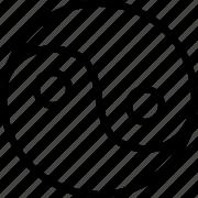 health, line, yang, yin icon