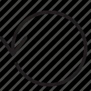arrow, line, loop icon