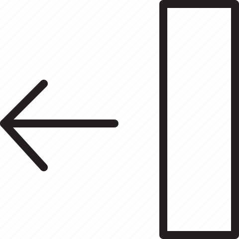 arrow, left, line, move icon