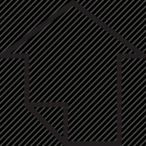 arrow, big, line, up icon