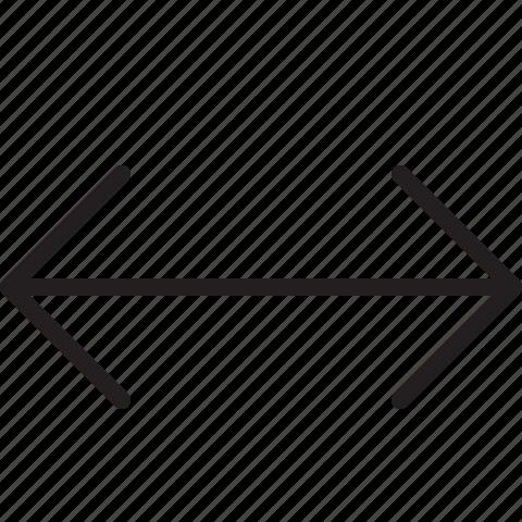 left, line, right, scale icon