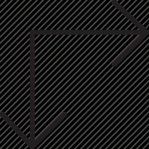 arrow, line, resize icon