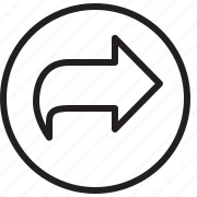 button, forward, line, next icon