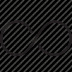 continius, infinity, line, loop icon