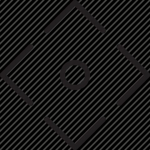 line, move, omnidirectional icon