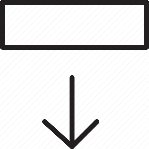 arrow, down, line, move icon