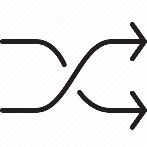 arrow, line, shuffle icon