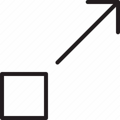 arrow, line, move, right, scale, up icon