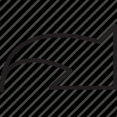 arrow, big, forward, line, next icon