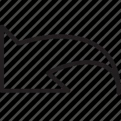 arrow, back, line icon