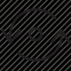 arrow, line, loop, sync icon