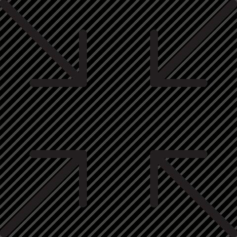 down, line, scale icon