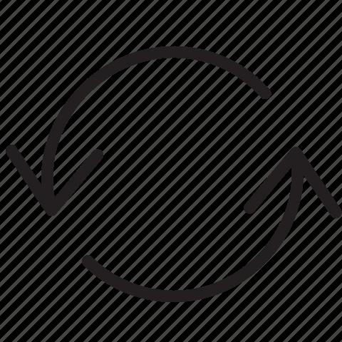 arrow, line, refresh, sync icon