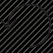 arrow, line, refresh icon