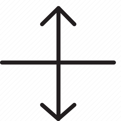 arrow, heigh, line, scale icon