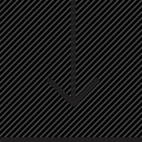 down, line, move icon
