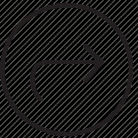 arrow, button, circle, line, next icon