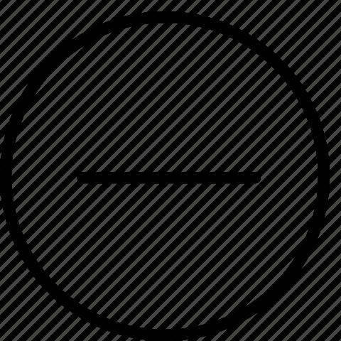delete, line, minus, remove icon