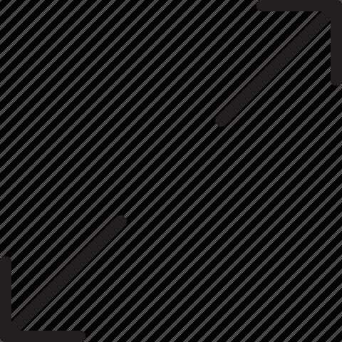 fullscreen, line, scale icon