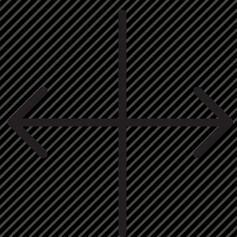 arrow, line, scale, width icon