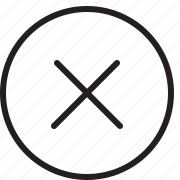 cross, delete, line, remove icon