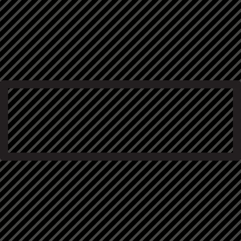 big, line, minus, remove icon