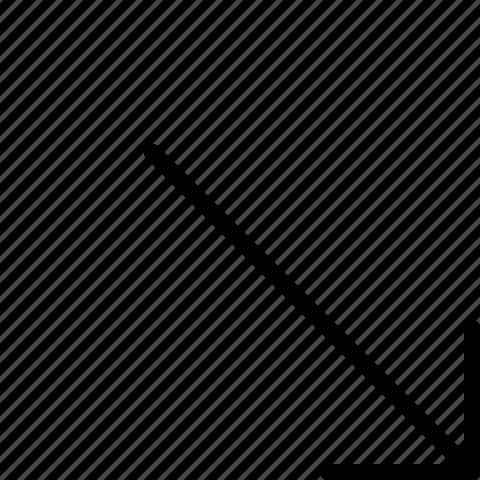 arrow, bottom, right icon