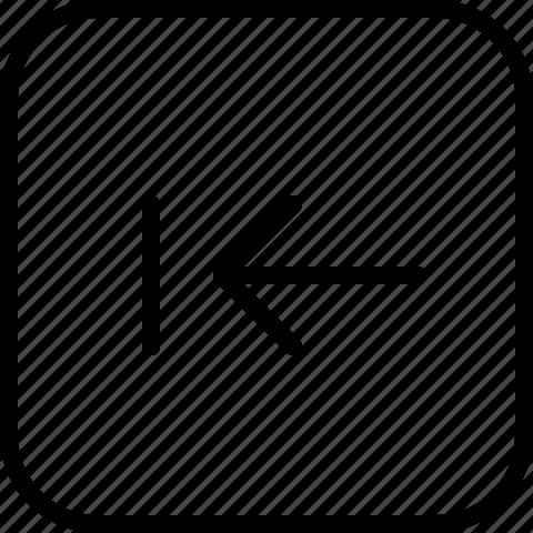 arrow, first, previous icon