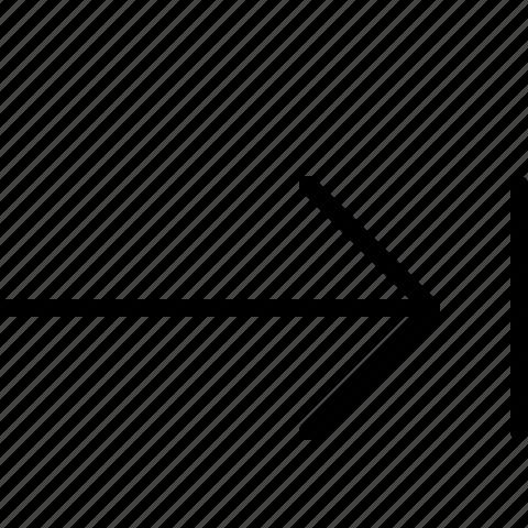 arrow, end, right icon