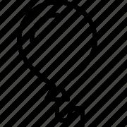 ballon, event, fun, line, party icon
