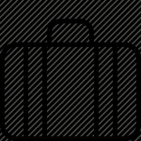 bag, briefcase, document, line, work icon