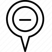 location, minus icon