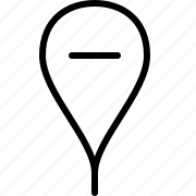 location, minus, pin icon