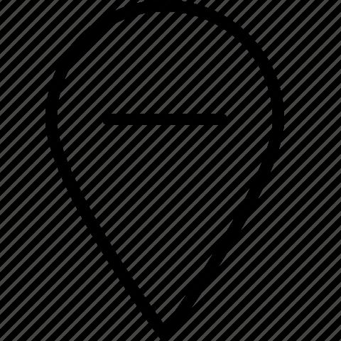location, minus, pin, remove icon