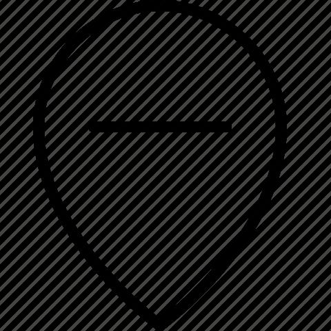 add, location, minus, remove icon