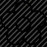 eco, flower, line icon