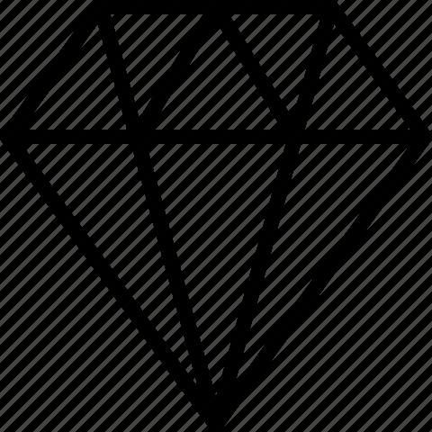 diamond, value icon