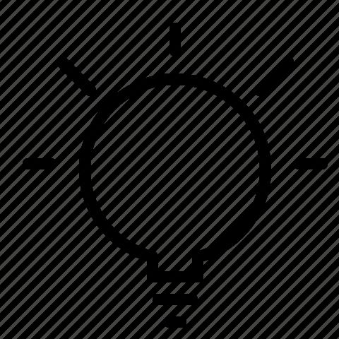 idea, light, light bulb icon