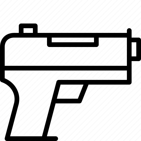 crime, gun, shoot, violence icon