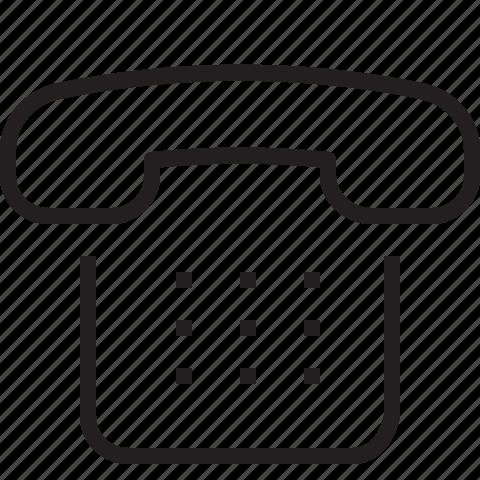 numpad, phone icon