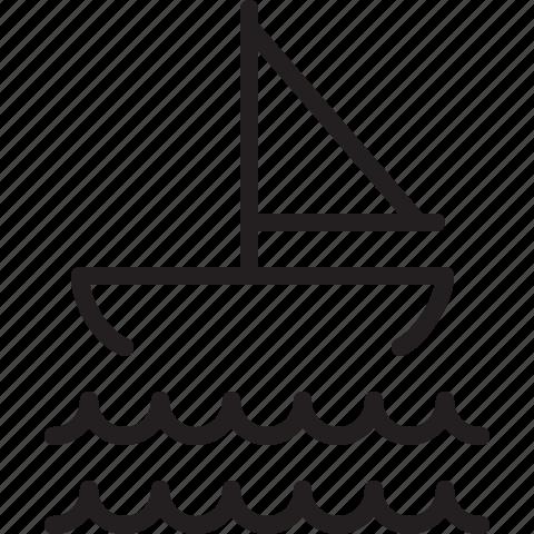 boat, sea icon
