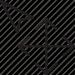 arrow, cursor, line, move, selection icon