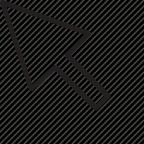 arrow, cursor, line, mouse, selection icon