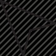 arrow, line, pointer, selection icon