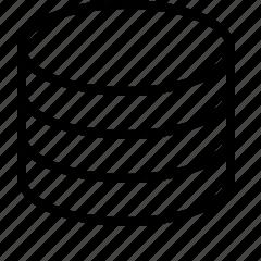 data, line, server, storage icon