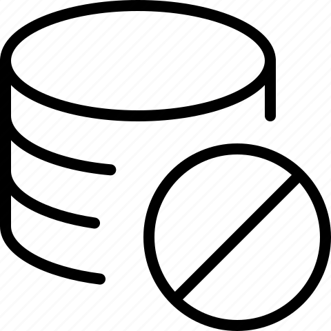 block, data, denied, line, server icon