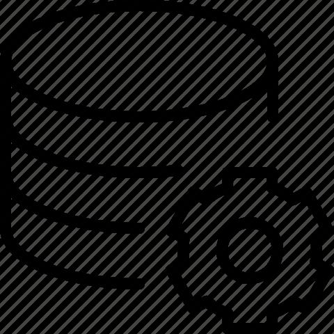 data, gear, line, preferences, server, setting icon