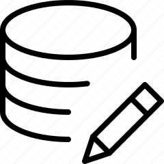 data, edit, line, new, server icon