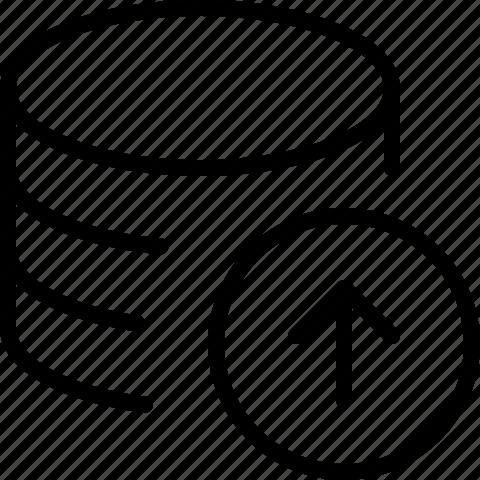 data, line, server, upload icon
