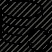 data, line, refresh, server, sync icon